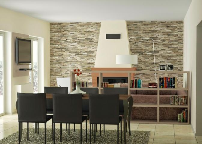 Decorare casa con rivestimenti per pareti rustico