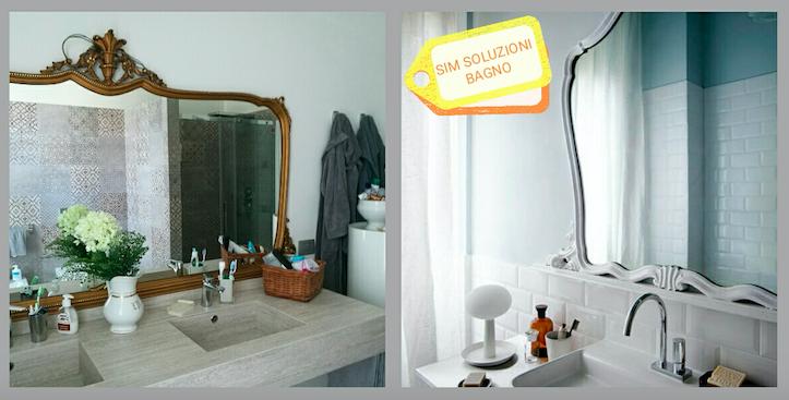 Riciclo creativo specchi per il bagno