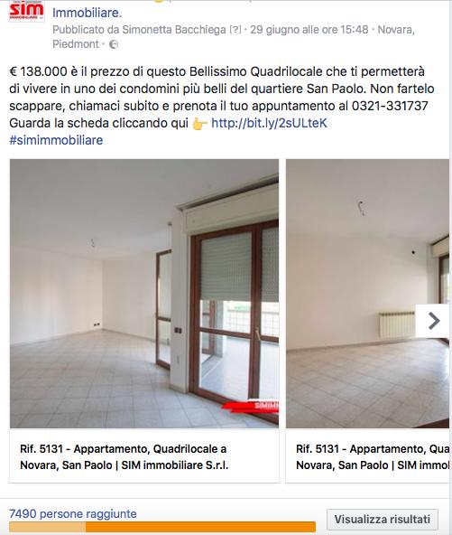Vendere casa con Facebook