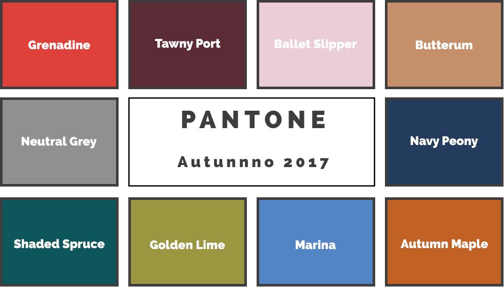 Arredo tendenze autunno 2017 secondo Pantone