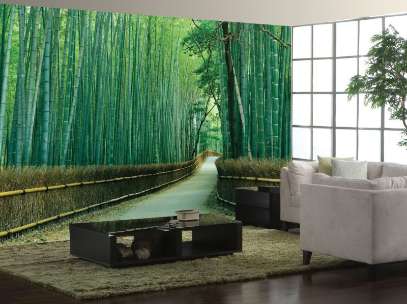 carta da parati 3D foresta