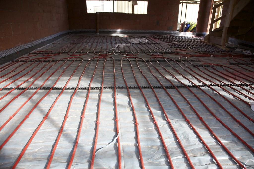 impianto di riscaldamento a pavimento